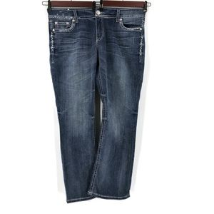 Seven7 Luxe Slim Bootcut Jeans Embroidered Stitch